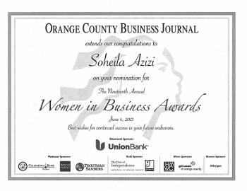 Azizi - SA Certificate 2013 (350x270)