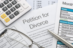 Close up of a petition for divorce