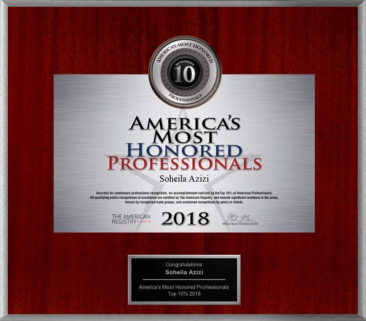 America's Most Honored Professionals 2018 - Top 10%