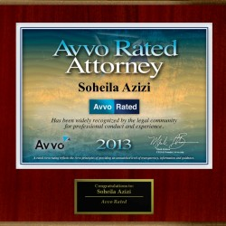 Avvo Rated Attorney 2013