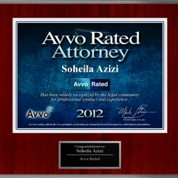Avvo Rated Attorney 2012